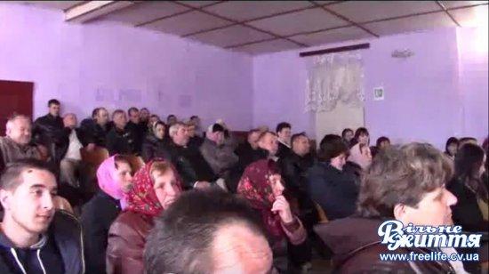 У Кліводині на громадських слуханнях присутні утрималися від об'єднання в Кіцманську громаду (ВІДЕО)