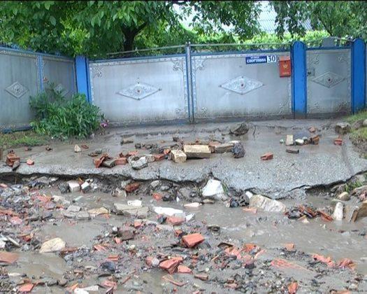 Село Біла Кіцманського району постраждало від значних опадів (ВІДЕО)