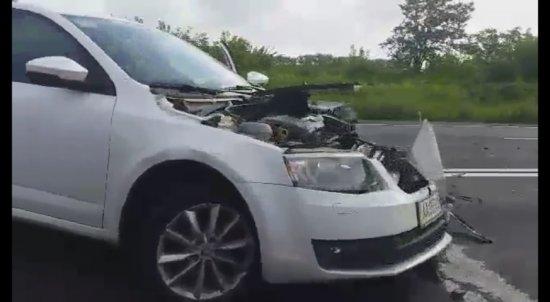Знову аварія при в'їзді у Чернівці, в Новому Киселеві (ВІДЕО)