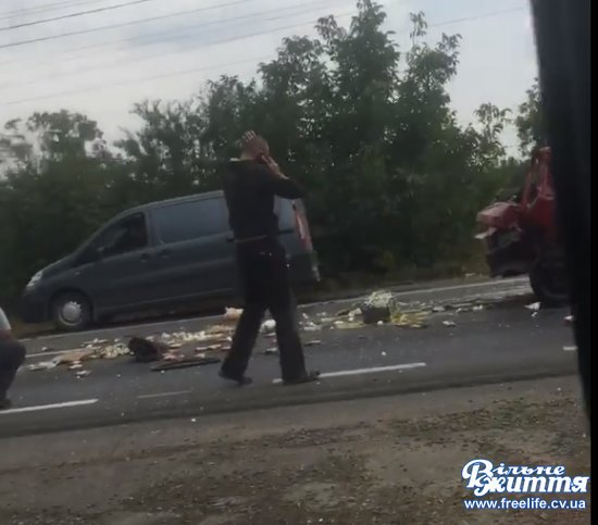 Знову аварія  на трасі в Мамаїівцях