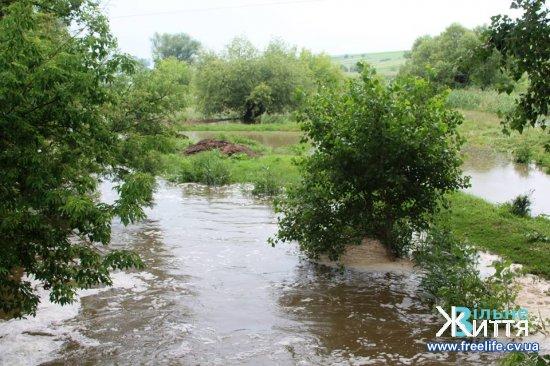 На Кіцманщині річки і ставки виходять з берегів, підтоплює домогосподарства