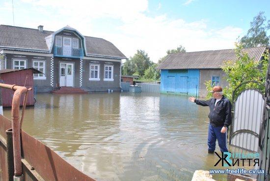 (Фоторепортаж) Водойми Кіцманщини переповнені після дощів, але ситуація вже контрольована