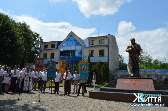 У Кіцмані на День міста відкрили пам'ятник Т.Г.Шевченкові