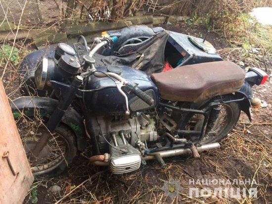 Поліція Кіцманщини оперативно розшукала викрадений мотоцикл