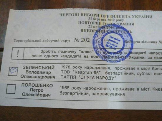 Понад 67% виборців Кіцманщини проголосували за Володимира Зеленського (оновлюється)