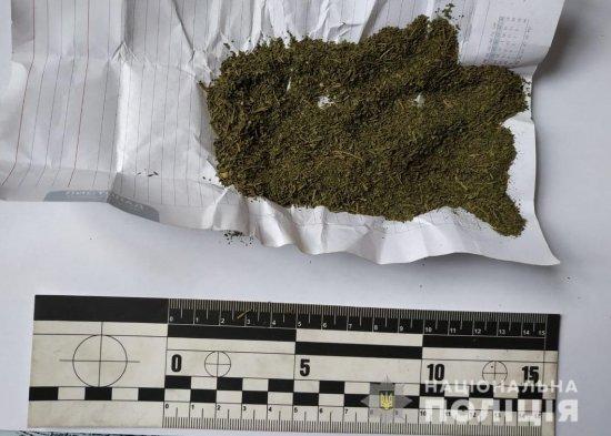 Поліція задокументувала факт незаконного зберігання наркотиків у жителя Кіцманщини